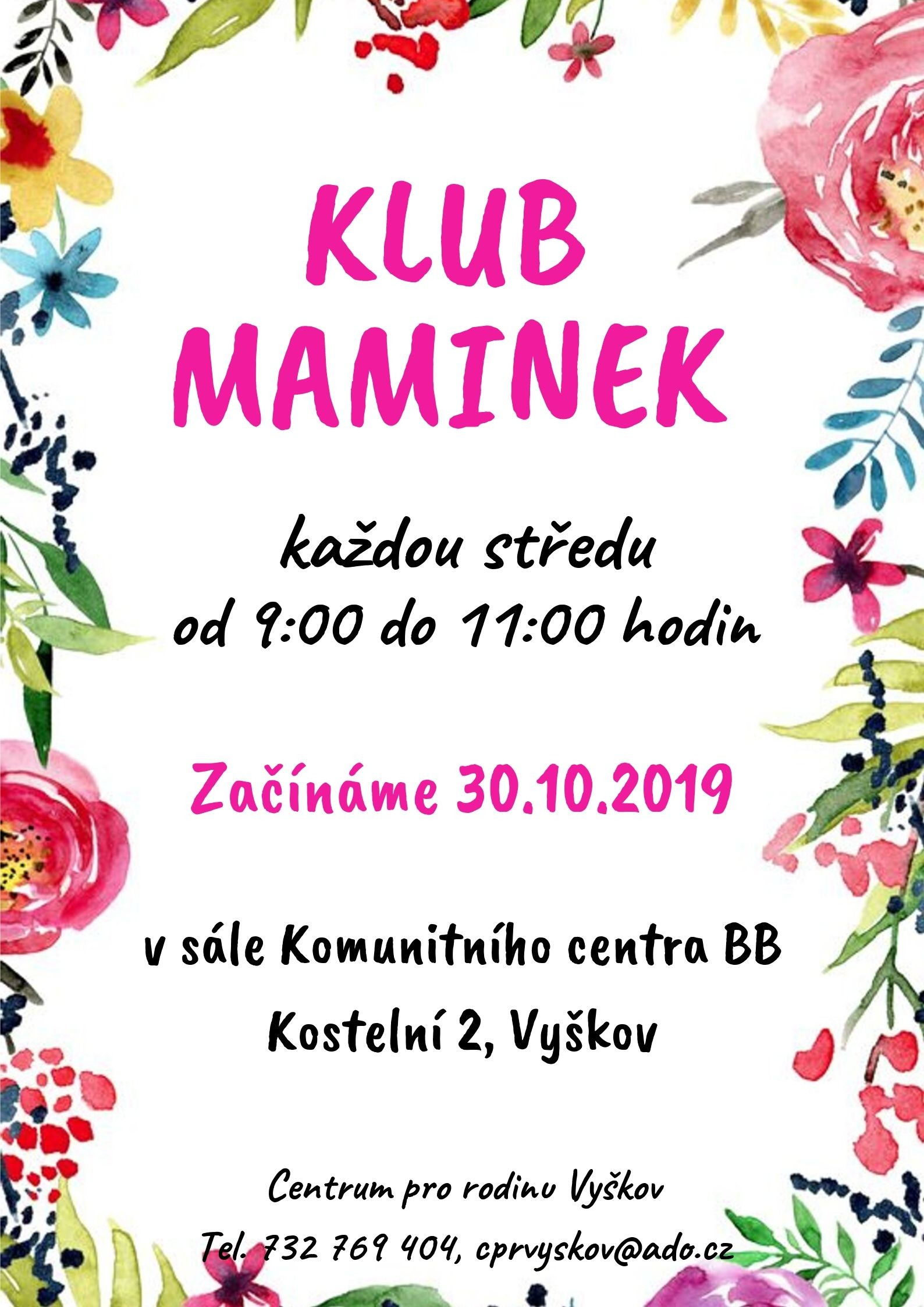 Klub maminek 30.10.2019