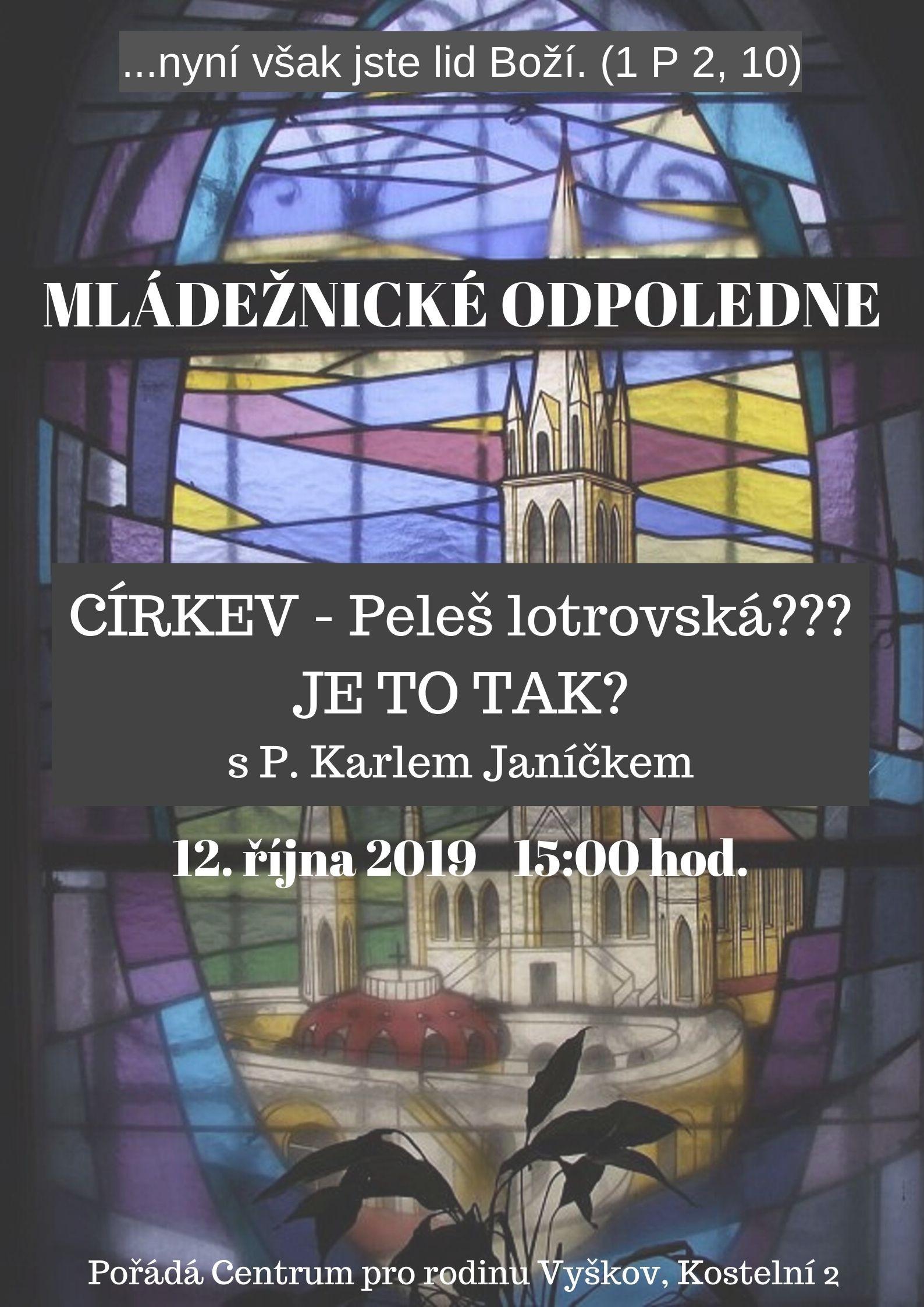 Mladeznicke odpoledne 1 12.10.2019