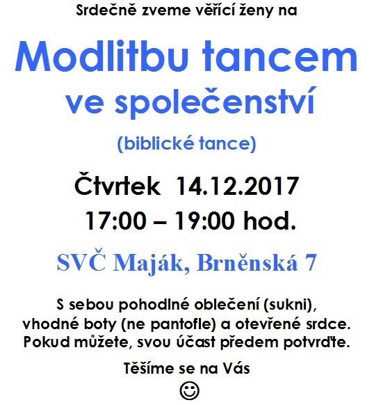 Modlitba tancem 14.12.2017