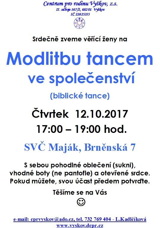 Modlitba tancem 12.10.2017